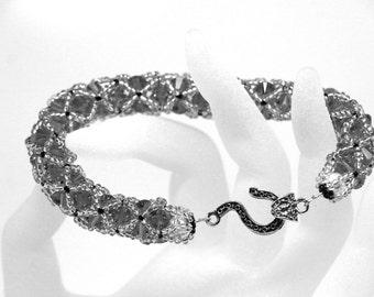 Choose your Color -  Netted Swarovski bicone crystal Bracelet