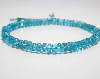 """70%OFF 8""""Inches Apatite Rondelle Beads Smooth 100 Percent Natural Gemstone Size 7.3x6. mm Approx."""