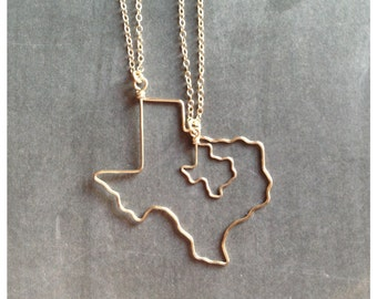 Texas Necklace - Texas Jewelry -Texas State Necklace - ATX - Personalized - Bridesmaid Gift - State Jewelry - Travel