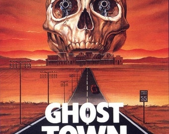 Spring Sales Event: Ghost Town Movie POSTER (1988) Action/Horror