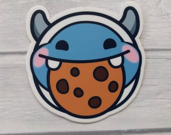 STICKER beetleNom Yeti Cookie Twitch Emote Vinyl Sticker