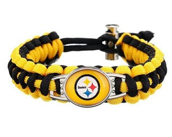 Pittsburgh Steelers paracord bracelet..free shipping!!