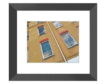 Window Panes Framed Print (Black or White)