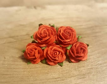 Red Rose Hairpin, Wedding Hair Piece, Gift for Her, Flower Hair Pins, Christmas Gift, Hair Accessory