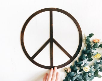 Metal Peace Sign - Peace Sign Wall Decor