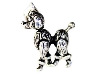 925 Sterling Silver Poodle Dog Pendant