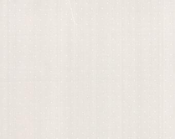 Modern Background Paper Pindot White on Fog, Brigitte Heitland, Zen Chic, Moda Fabrics, 100% Cotton Fabric, 1588 22