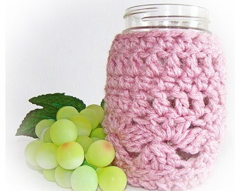 Blush Pink Ball Mason Jar Cozy Pint size, canning cover, Bamboo Blend, Easter Decor
