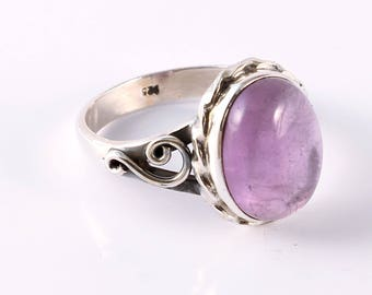 Amethyst 92.5 sterling silver ring size 9 us