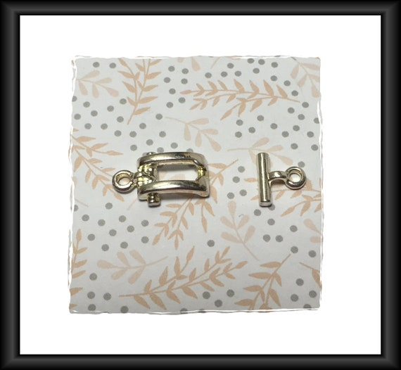 Silver 12 mm Toggle Clasp