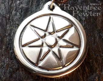 Pleiades Star - Pewter Pendant - Pleadian Star System, New Age, New World, Awakening Jewelry