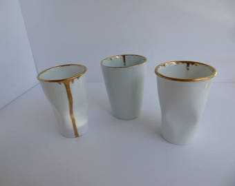 """Gold rimmed cup """"crushing on you"""""""