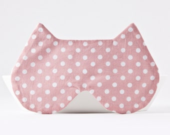 Sleep Mask for Women, Cat Sleep Mask, Soft Eye Mask, Cat Lover Gift, Pink Sleep Mask, Gifts for Her Under 20, New Mom Gift, Travel Gifts