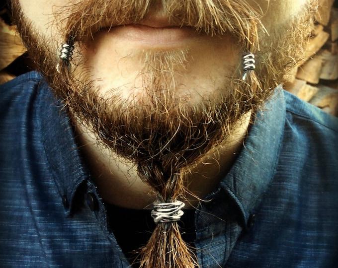 Featured listing image: Beard Beading KIT 'The Skald' TIBETAN ALLOY beard rings viking beard bead beard rings viking jewelry Celtic beard bead pirate goth Dwarvish