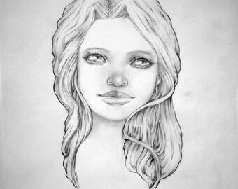 "Original Pencil Drawing ""Connie"""