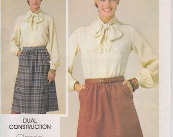 CLEARANCE Skirt Pattern A Line With Pockets Misses Size 20 Waist 34 Uncut Butterick 3922