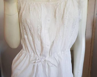 Gorgeous lace and cotton camisole.