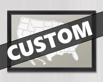 Custom Country Photo Map