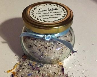 Botanical Bath salts - Spa Bath Salts - Bridesmaid gift - Bridal shower - Mothers Day Gift