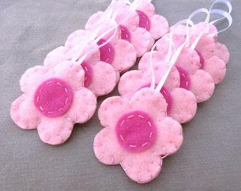 10 blass rosa Blume Ornamente, rosa rose rosa Blume Blüte Blüte Hochzeitsfeier, Rosa Gänseblümchen Kirsche, Rosa Dekor Mädchen-Kinderzimmer