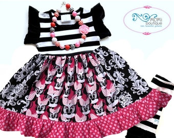 Disney Minnie Mouse dress Momi boutique custom dress