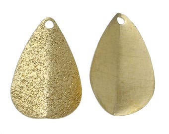 Embossed Aluminum Drops, Gold Plate Finish (2095)