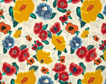 Art Gallery Fabric Floral Fabric 100% Cotton Premium Quality Artisan Ad Lib Blooms Dressmaking/Quilting