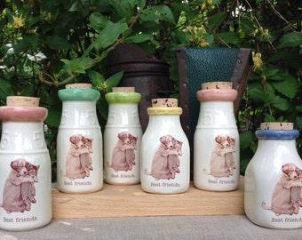 Ceramic Milk Bottle, Handmade Milk Bottle, Dog Milk Bottle, Cat Milk Bottle, Ceramic Honey Bottle, Ceramic Cork Jar
