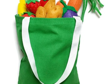 U-Pick Garden Vegetable Set w/ Large Bag - fresh and felt! eco-friendly felt play foods - washable and durable!