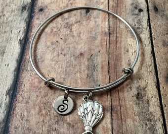 Hot air balloon initial bangle - balloon bracelet, balloon jewelry, hot air balloon jewelry, ballooning jewelry, Albuquerque jewelry