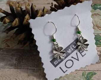 Cute Clover Dangle Earrings