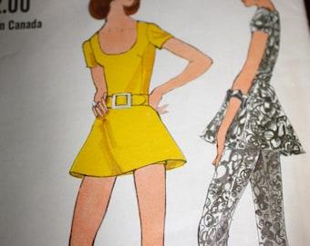 Miss Vogue Dress, Tunic, Pants, and Shorts Pattern---Vogue 7805---Size 12 Bust 34