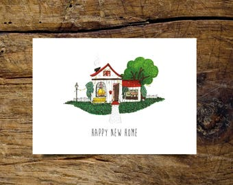 Happy new home, folding card A6