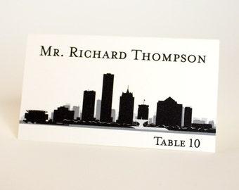 Milwaukee Place Card Skyline City Handmade Custom Name Card Escort Wedding Bridal Place Setting Other Cities Available Wisconsin