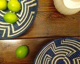 Beautiful Blue/White African Baskets/Fruit Baskets*** Free Shipping