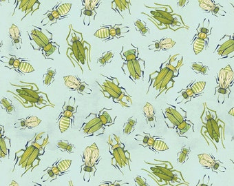 Fabric by the Yard -- The Adventurers Insect Blue by Cori Dantini for Blend
