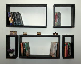 bookshelf,set of five shelf,wall shelves,bookshelves