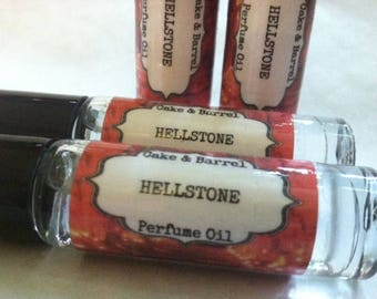Hellstone Perfume Oil. 10ml Roll On Bottle. Lush Type.