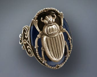 Scarab Ring, Beetle Ring, Insect Ring, Insect Jewelry, Egyptian Scarab Ring, Vintage Scarab Ring, Silver Scarab Ring, Bug Ring R535