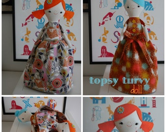 Trixie and Tess: A Topsy Turvy Doll - PDF Sewing Pattern With Step-By-Step Photos