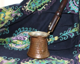 Traditional Turkish Coffee Copper Pot for one Turkish Coffee Cup