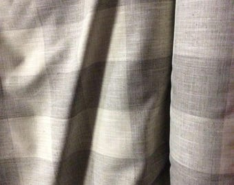 very french RUSTIC WOVEN buffalo check Moonstone grayish neutrals linen/ lots of textures tweed multipurpose fabric