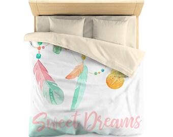 Sweet Dreams, Watercolor Dream Catcher,  Duvet Cover, Bedroom Decor, boho design
