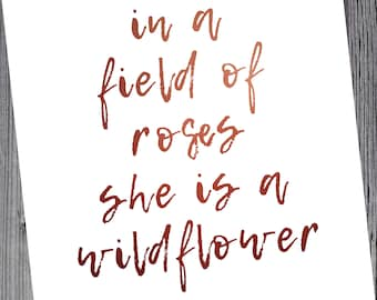 She is a wildflower 8x10 digital instant download