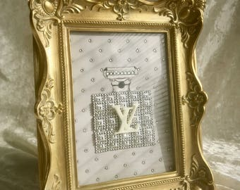 Louis Vuitton perfume bottle framed art - Vintage - Shabby chic - Glamorous