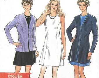 New Look Dress Pattern 6411 - Misses' Jacket and Dress - SZ 6/8/10/12/14/16