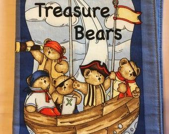 Treasure Bears cloth book , children's book, Bears