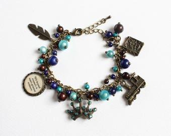 Charm Bracelet (Blue Eagle House) Bronze version (CLEARANCE)