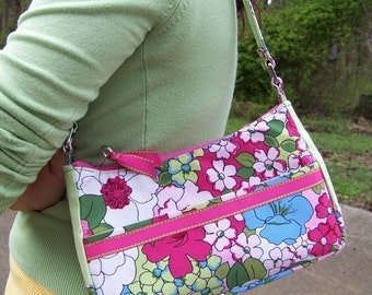 Small Purse Pdf Pattern with Tutorial 3 in 1 with lots of pockets with instant e-file download