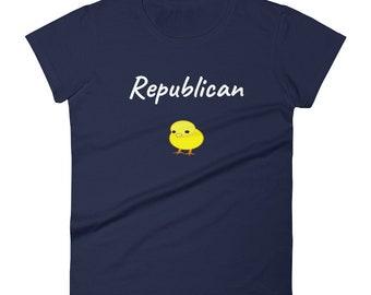 Republican Chick Women's Tee, Republican Women, Conservative T Shirts, Patriotic Tee Shirts, Patriotic Apparel